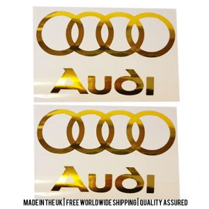 Audi Decals (Chrome)