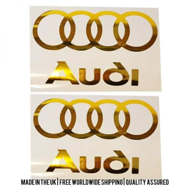 Audi Decals (Chrome)