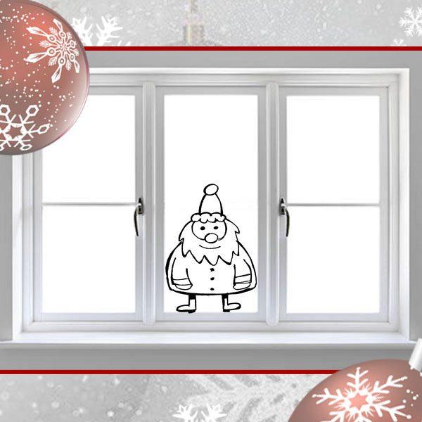 Santa Window Sticker