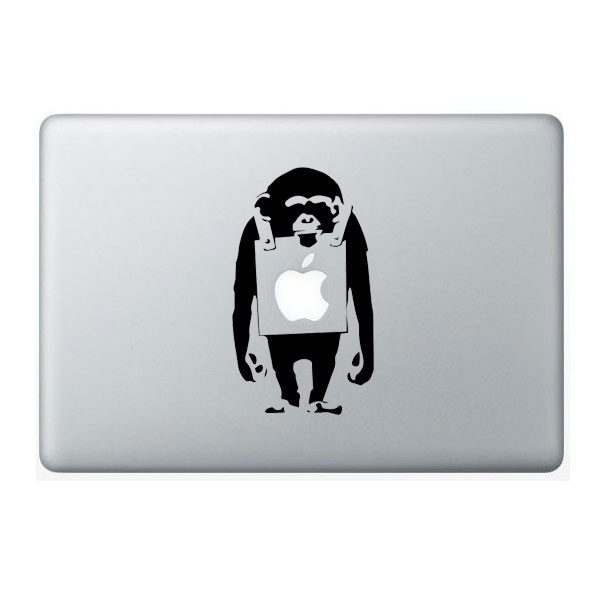 banksy monkey macbook sticker