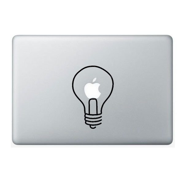 light bulb macbook vinyl decal