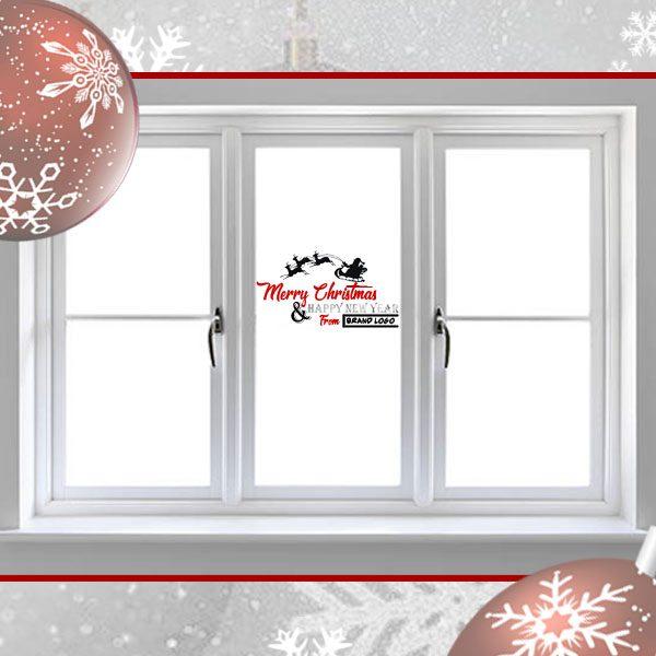christmas shop window sticker