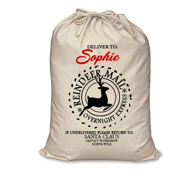 reindeer santa sack
