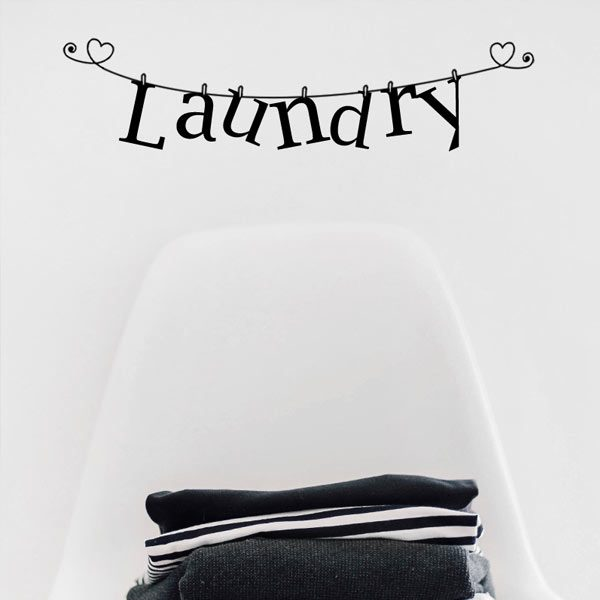 laundry washing line vinyl decal