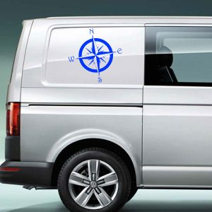 compass vinyl decal large