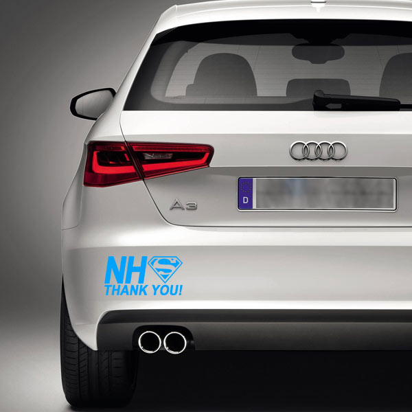 nhs thank you vinyl decal