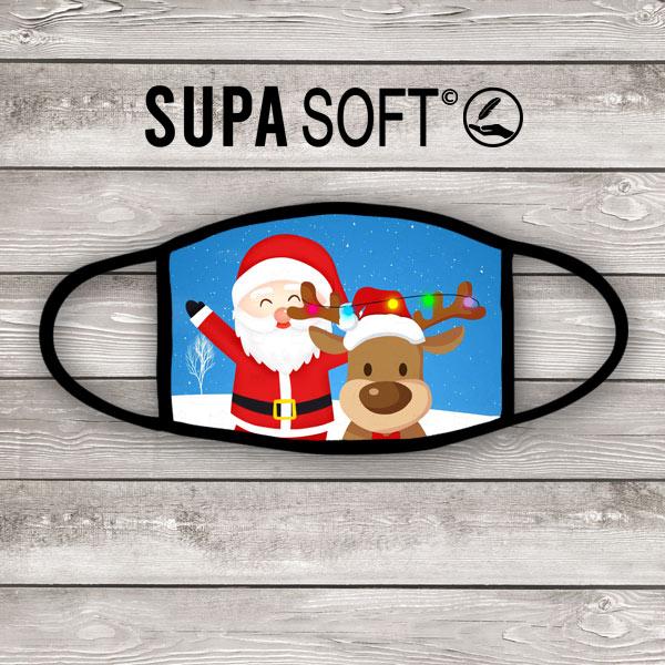Santa & Reindeer face mask