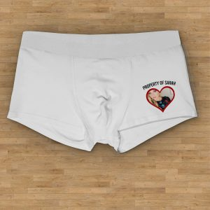 property of picture boxer shorts