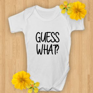 guess what baby onsie