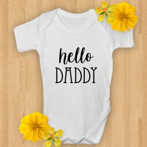 hello daddy baby suit