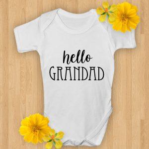hello grandad baby onsie