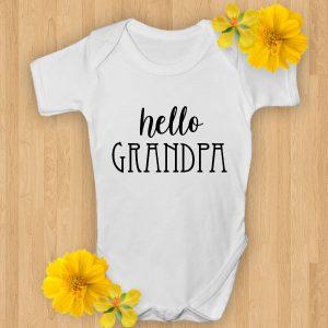 hello grandma baby onsie