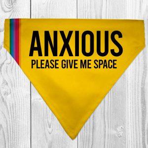 anxious dog dog bandana