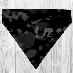 black camo dog bandana