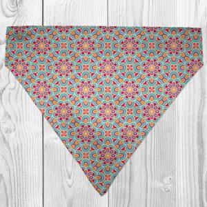 bright flower dog bandana