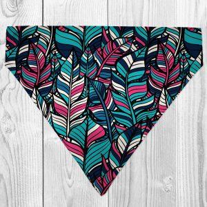 colourful feather dog bandana