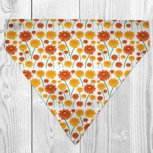 daisy pattern dog bandana