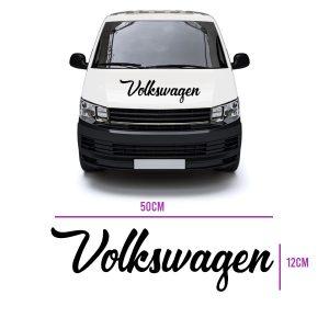 volkswagen script text vinyl decal