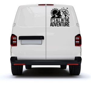 it's all in the adventure vinyl decal